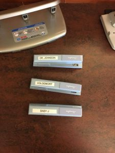 Photo of library staplers