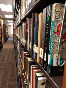 Photo of books on shelves looking amazing