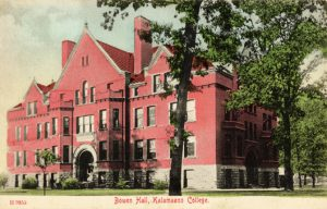 Image of a postcard with Bowen Hall