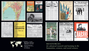 Images of resources from the Center for Research Libraries