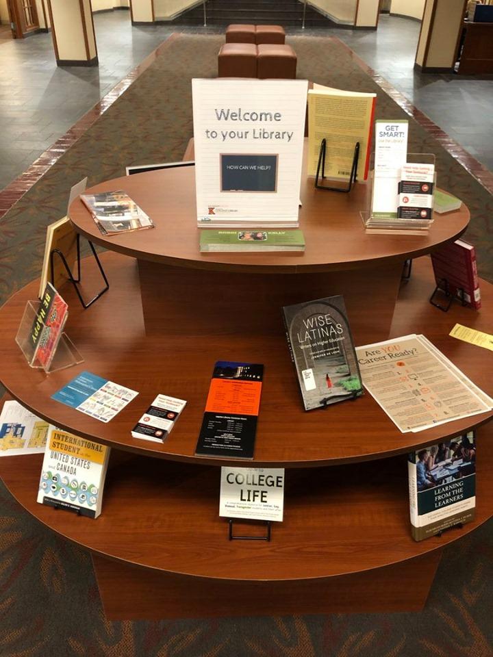 Photo of book display