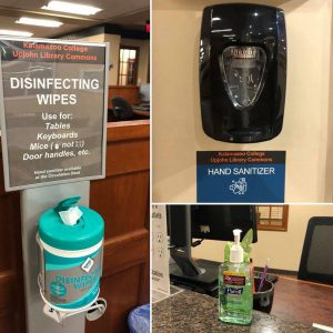 Photos of disinfectant and santitizer