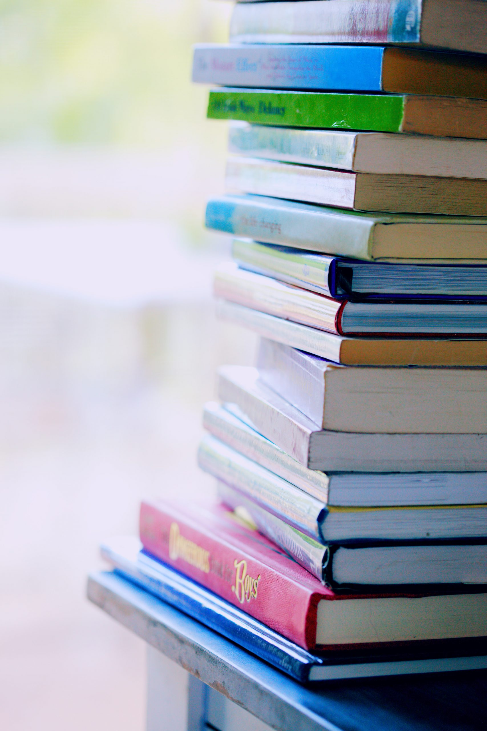Photo of a stack of books