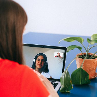 Women using video chat