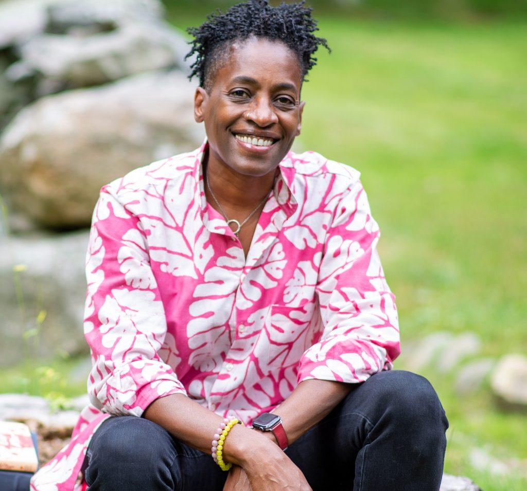 Award-winning Black author, Jaqueline Woodson.
